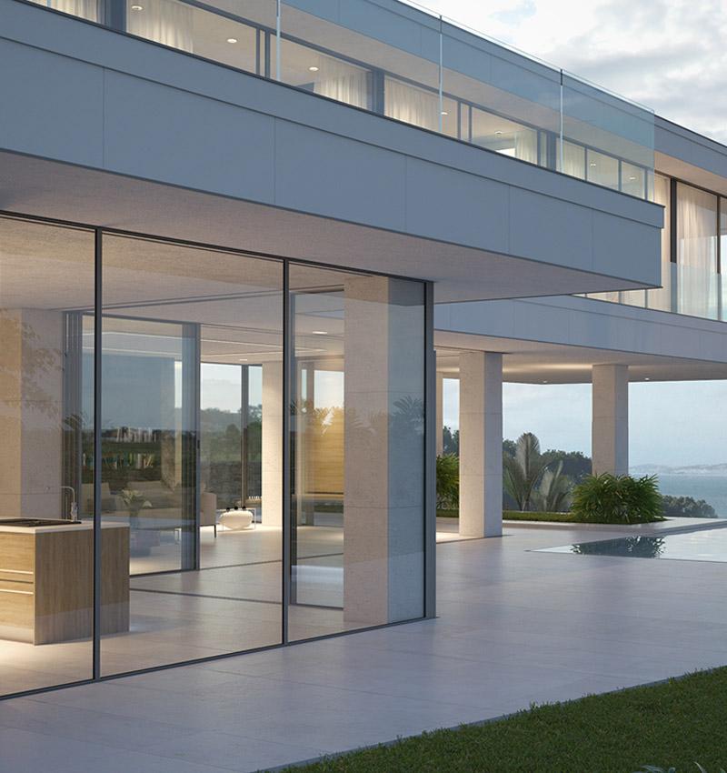 Moderne villa fenster und t ren wien ideal - Moderne fenster ...